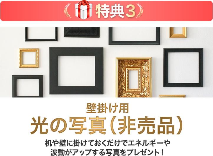 壁掛け用 光の写真プレゼント(非売品)
